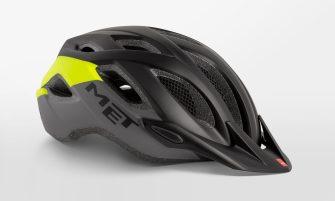 MET Crossover helm zwart/geel